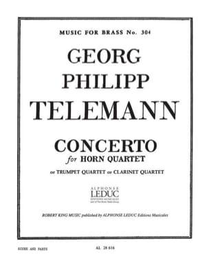Concerto - Georg Ph Telemann - Partition - Cor - laflutedepan.com