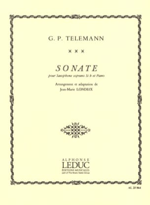 Sonate - Georg Ph Telemann - Partition - Saxophone - laflutedepan.com