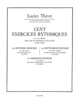 Lucien Thévet - 100 Two-Part Rhythmic Exercises Volume 1 - Sheet Music - di-arezzo.co.uk