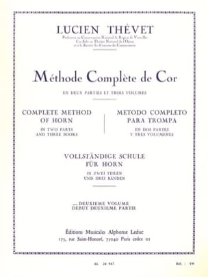 Lucien Thévet - Complete Method Volume 2 - Sheet Music - di-arezzo.com