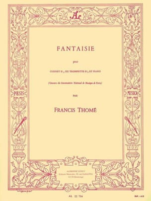 Fantaisie Francis Thomé Partition Trompette - laflutedepan