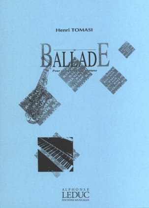 Ballade TOMASI Partition Saxophone - laflutedepan