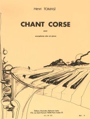 Chant Corse TOMASI Partition Saxophone - laflutedepan