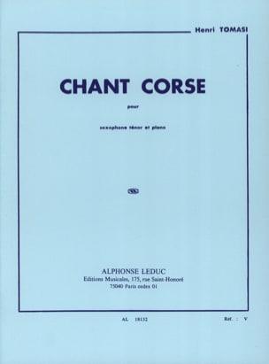 Chant Corse - TOMASI - Partition - Saxophone - laflutedepan.com