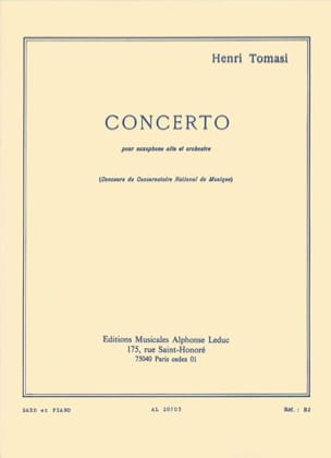 Henri Tomasi - コンチェルト - 楽譜 - di-arezzo.jp