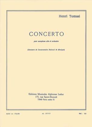 Concerto TOMASI Partition Saxophone - laflutedepan
