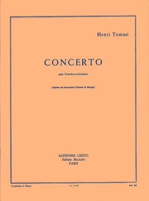 Concerto TOMASI Partition Trombone - laflutedepan