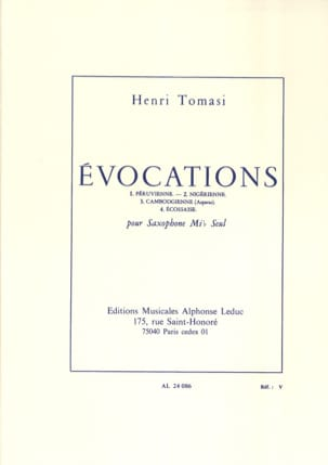 Henri Tomasi - Evocations - Sheet Music - di-arezzo.co.uk