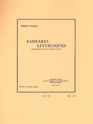Henri Tomasi - Liturgical fanfares - Sheet Music - di-arezzo.co.uk