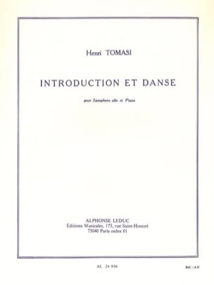 Henri Tomasi - Introduction Et Danse - Partition - di-arezzo.fr