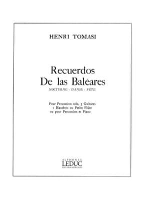 Henri Tomasi - Recuerdos de Las Baleares - Partition - di-arezzo.fr