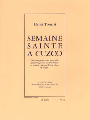 Henri Tomasi - Holy Week in Cuzco - Sheet Music - di-arezzo.com