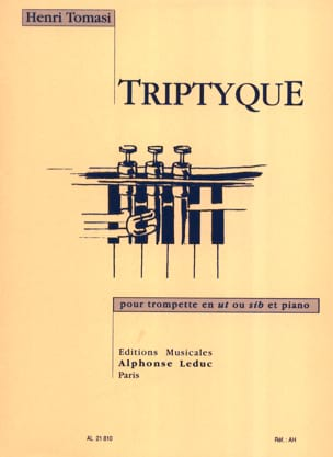 Triptyque TOMASI Partition Trompette - laflutedepan