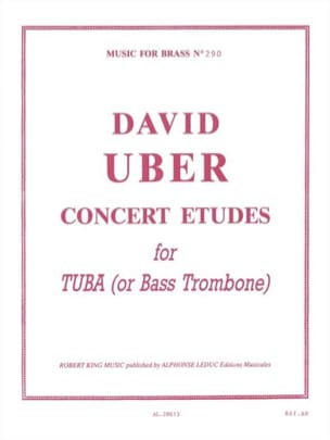 Concert Etudes For Tuba David Uber Partition Tuba - laflutedepan