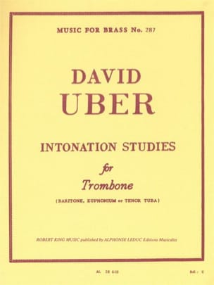 Intonation Studies David Uber Partition Trombone - laflutedepan