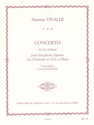 VIVALDI - Concerto in A minor - Sheet Music - di-arezzo.co.uk
