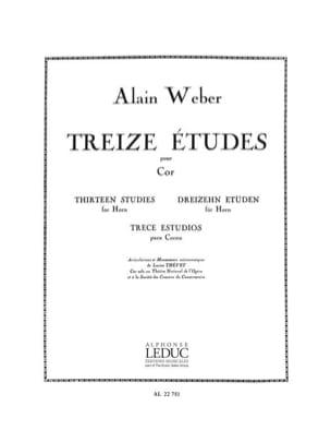 Alain Weber - 13 Etudes - Partition - di-arezzo.fr