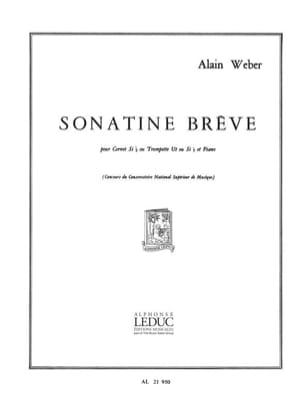 Alain Weber - Sonatine Brève - Partition - di-arezzo.fr