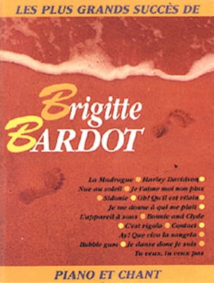 Brigitte Bardot - Livre d'or - 15 Succès - Partition - di-arezzo.fr