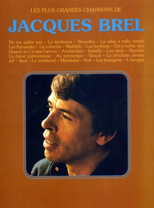 Jacques Brel - Les plus grandes chansons - 26 Succès - Sheet Music - di-arezzo.co.uk