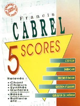 Françis Cabrel - 5 Scores - Sheet Music - di-arezzo.com