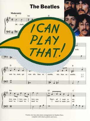 I Can Play That Volume 1 BEATLES Partition Pop / Rock - laflutedepan