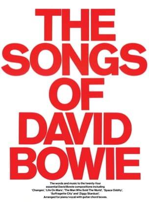The Songs Of David Bowie - David Bowie - Partition - laflutedepan.com
