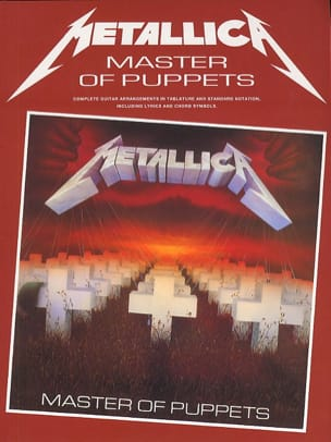 Metallica - Masters Of Puppets - Partition - di-arezzo.fr