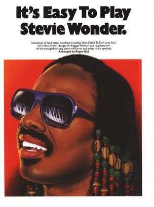 Stevie Wonder - It's Easy To Play Stevie Wonder - Sheet Music - di-arezzo.co.uk