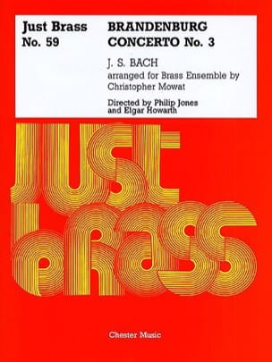 BACH - Brandenburg Concerto N° 3 - Just Brass N° 59 - Partition - di-arezzo.fr