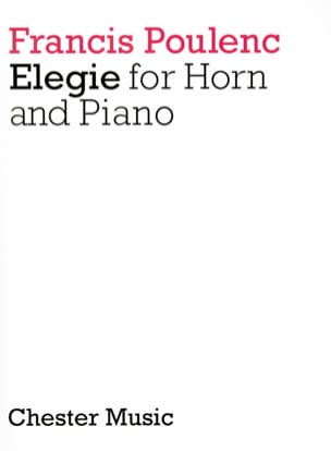 Francis Poulenc - Elegy - Sheet Music - di-arezzo.co.uk