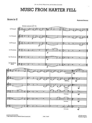 Raymond Premru - Music From Harter Fell - Just Brass N° 14 - Partition - di-arezzo.fr