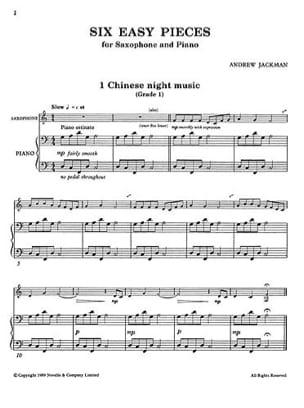 Andrew Jackman - Sei pezzi facili - Partitura - di-arezzo.it