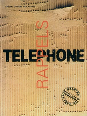 Téléphone - Rappels Volume 1 - Sheet Music - di-arezzo.co.uk