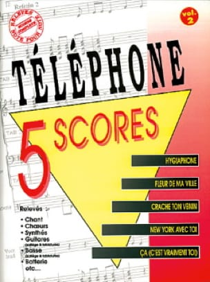 Téléphone - 5 Scores - Volume 2 - Sheet Music - di-arezzo.co.uk