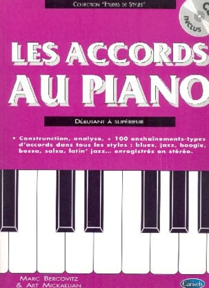 Marc Bercovitz - Les Accords Au Piano - Partition - di-arezzo.fr