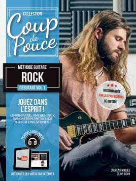 COUP DE POUCE - Beginner Rock Guitar Method Volume 1 - Sheet Music - di-arezzo.co.uk