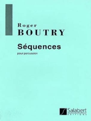Roger Boutry - secuencias - Partitura - di-arezzo.es