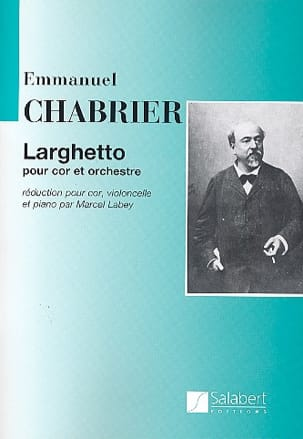 Larghetto CHABRIER Partition Cor - laflutedepan