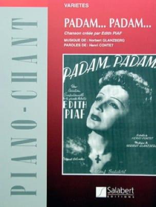 Edith Piaf - Padam, Padam - Partition - di-arezzo.fr