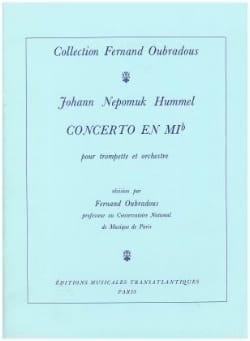 Concerto En Mib HUMMEL Partition Trompette - laflutedepan