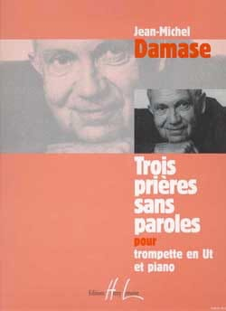 Trois Prières Sans Paroles Jean-Michel Damase Partition laflutedepan