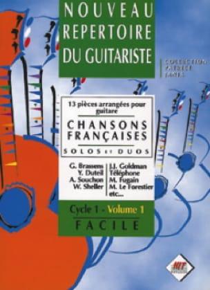 - Nouveau Repertoire du Guitariste Volume 1 - Chansons Françaises - Partition - di-arezzo.fr