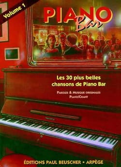 Piano Bar Volume 1 Partition Jazz - laflutedepan