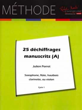 Julien Porret - 25 Déchiffrages manuscrits - A - Partition - di-arezzo.fr