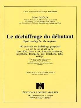 Marc Dijoux - le Déchiffrage du Débutant - Partition - di-arezzo.fr