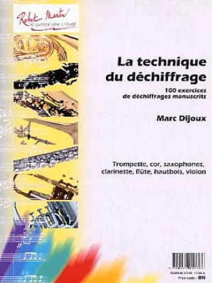 Marc Dijoux - The technique of deciphering - Sheet Music - di-arezzo.com