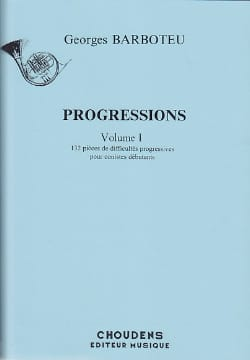 Progressions Volume 1 Georges Barboteu Partition Cor - laflutedepan