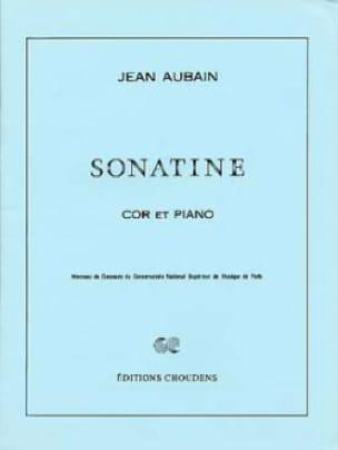 Sonatine Jean Aubain Partition Cor - laflutedepan