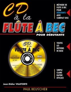 Jean-Didier Villetorte - CD A Flute A Bec - Sheet Music - di-arezzo.co.uk